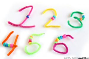 teaching numbers - pipe cleaners
