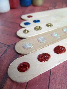 teaching numbers - tactile sticks