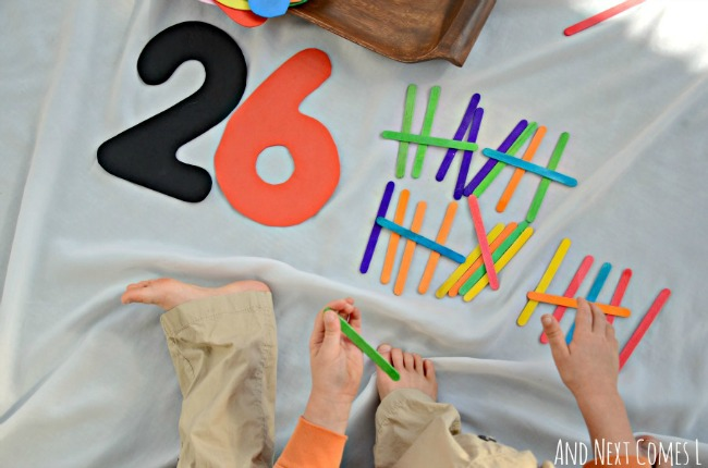 quiet time activities that teach tally marks