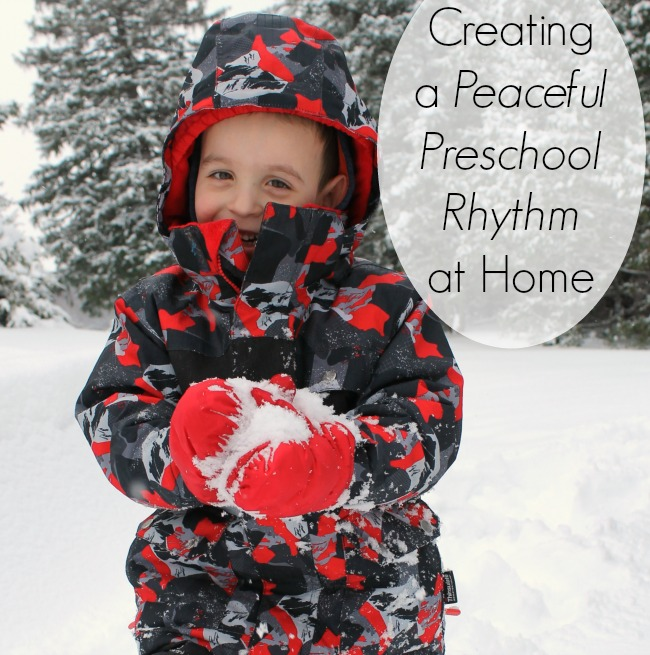Our preschool day at home! This is a great routine for homeschool preschool