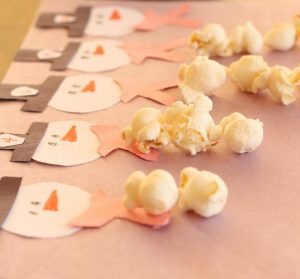 Popcorn Snowman Counting