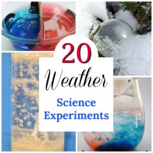 Easy science experiments about the weather for kids! These are such cool STEM activities about the seasons #science #STEM #preschool #weather #teaching #parenting