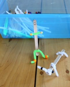 Activities for kids at home sick - craft stick puppets