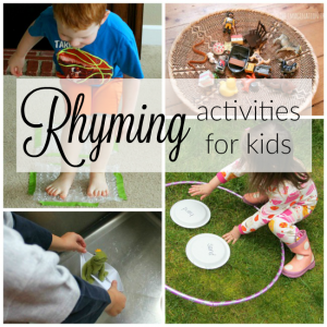These are fabulous and fun rhyming activities for kids. Rhyming is so important for preschoolers - love these great hands on ways to practice this pre-reading skill.