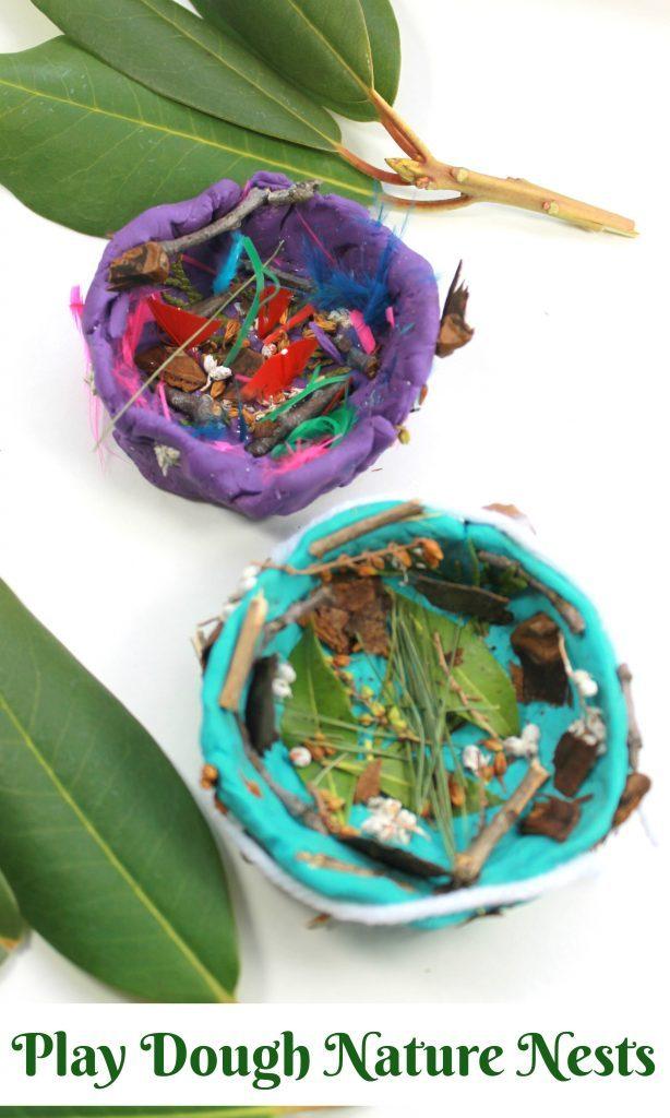 A great idea for playdough! Make a bird's nest for spring.