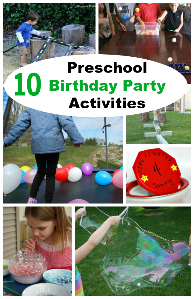 10 Fun Preschool Birthday Party Ideas