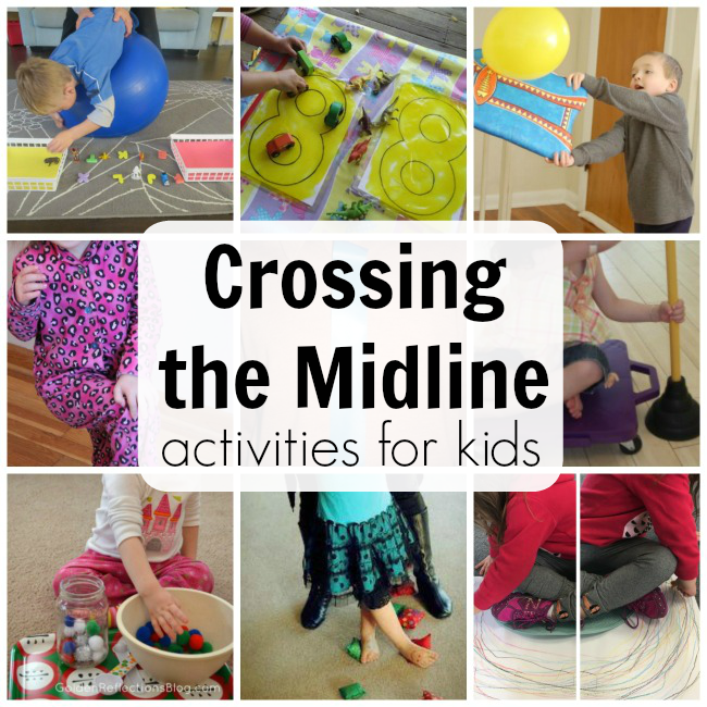 Activities for crossing the midline