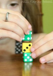 Amazing fine motor activities to build dexterity - Dice fine motor play