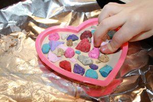 Amazing fine motor activities to build dexterity - Heart crafts