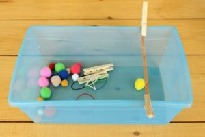 Amazing fine motor activities to build dexterity - Slingshot quiet bin
