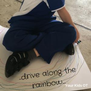 Crossing the midline - rainbow