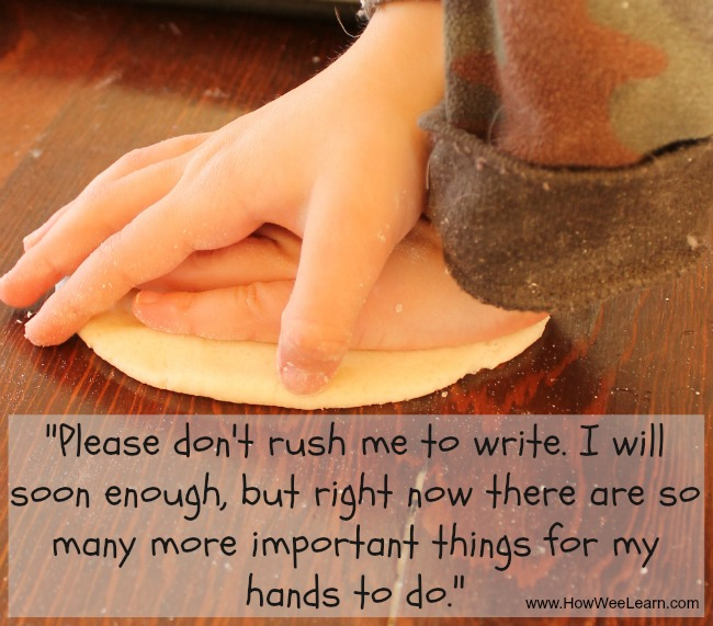 """Please don't ruch me to write. I will soon enough, but right now there are so many more important things for my hands to do."