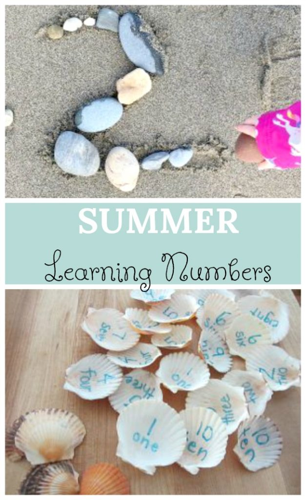 Fun summer learning activities for preschoolers! Awesome summer themed math activities #math #summer #preschool #counting #numbers
