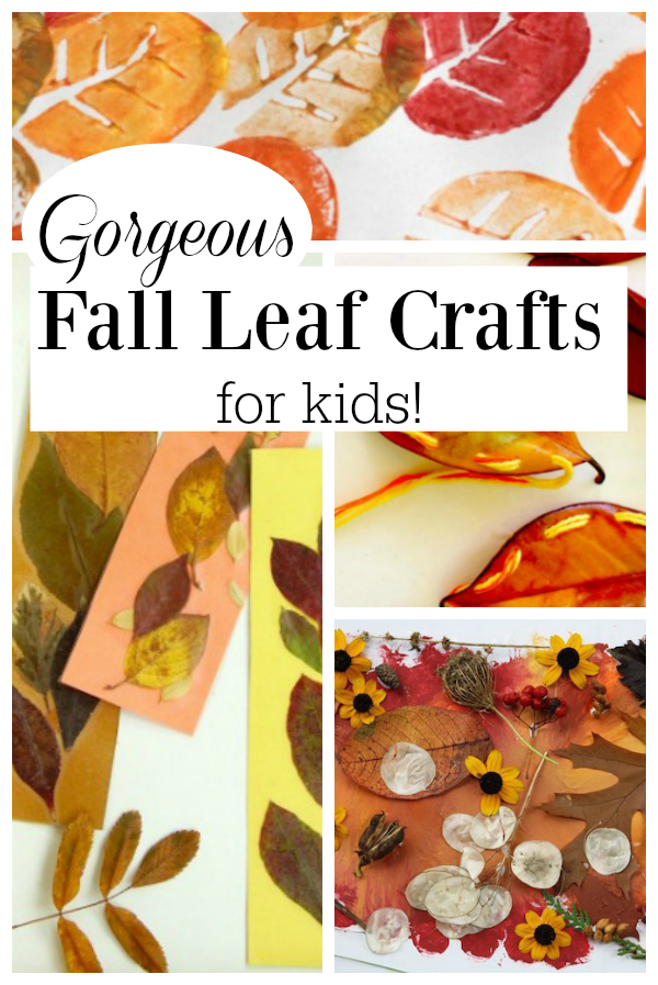 These are great fall leaves crafts for kids! These autumn craft ideas only need a fall leaf or two to get creating! #craftsforkids #fallcrafts #autumn #fall #art #preschool