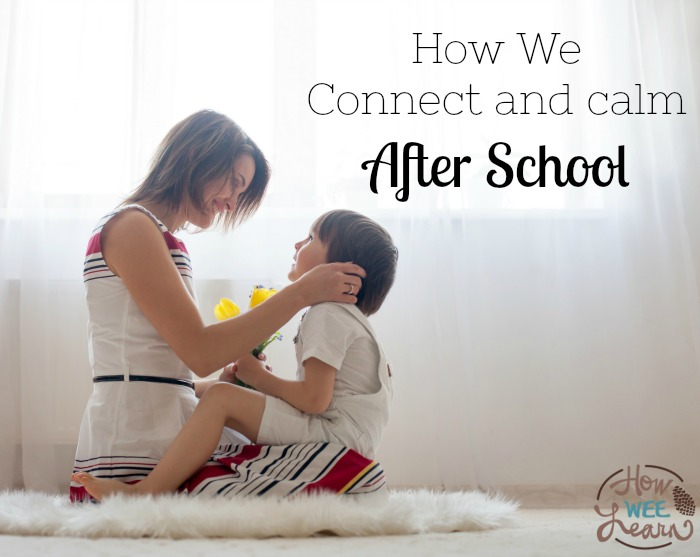 Calming and connecting with children after a busy day at school - this is how we do it!