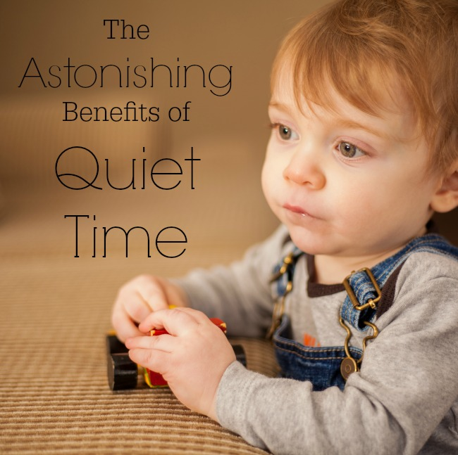 There are some absolutely amazing benefits to quiet time!