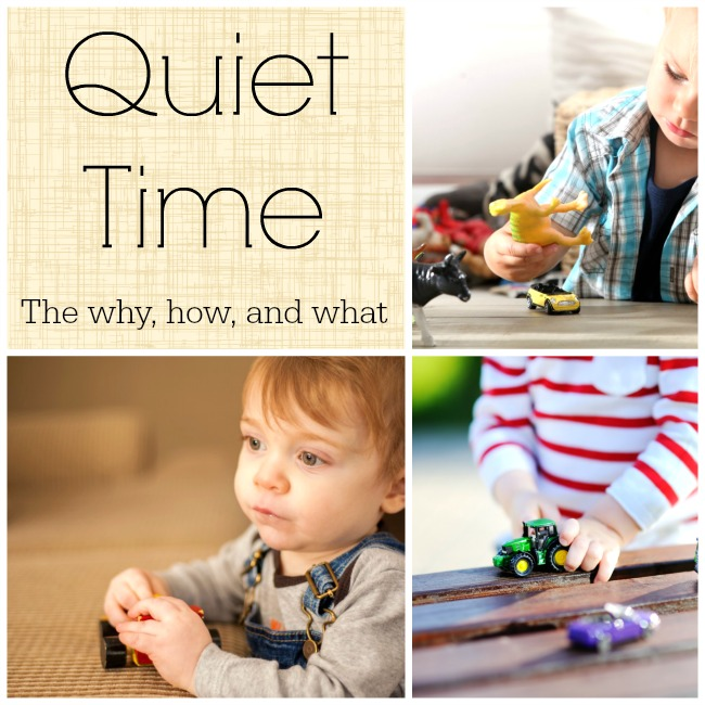 The why, how, and what of establishing a quiet time in your home. #howweelearn #quiettime #independentplay #preschoolactivities #preschoollearning