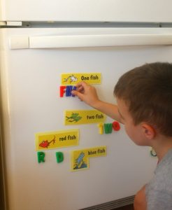 Photocopy any story and turn into magnets! A fabulous retell activity for preschoolers - and great for learning letters too.