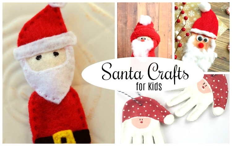 Adorable Santa crafts for preschoolers. These are perfect for Christmas crafting!