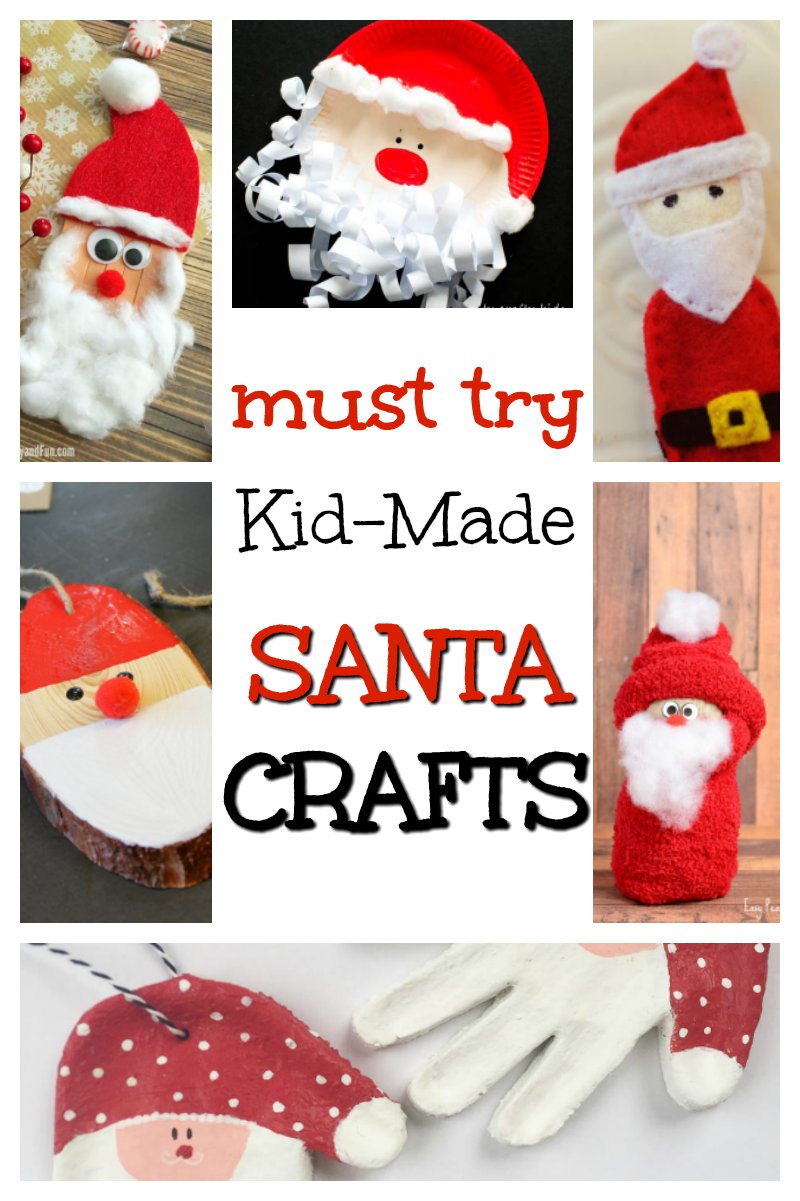 Christmas crafting fun! These Santa crafts are a definite must try with the kids this holiday season. #christmas #crats #holidaycrafts #santa #art #kids #kidsactivities #kidscrafts #winter