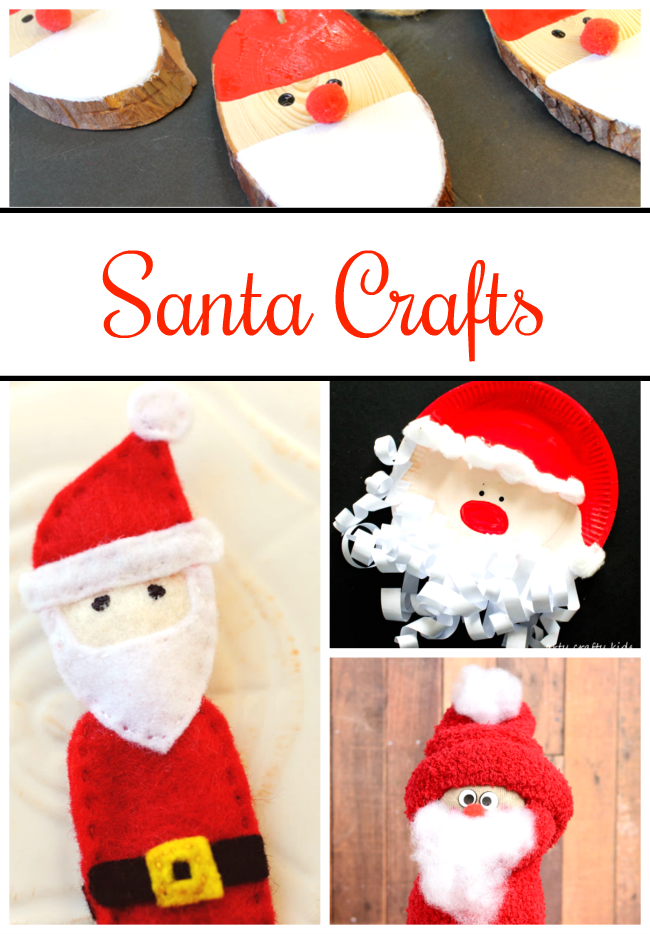 So many adorable Santa Crafts for preschoolers!