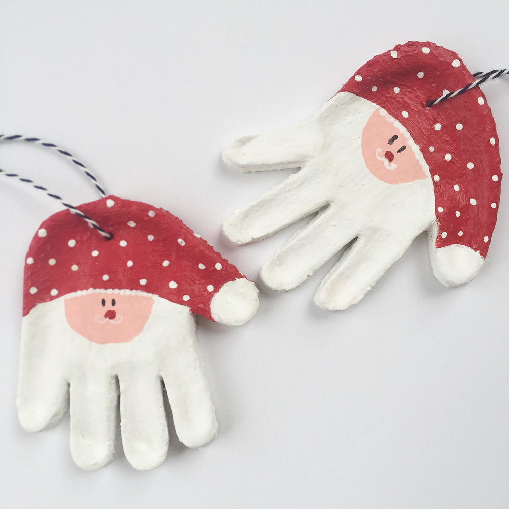 These adorable Santa handprints are must have Christmas Keepsakes!