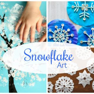 Beautiful Snowflake art - perfect winter art projects for kids!