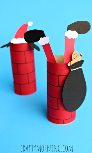 A cute santa craft for preschoolers