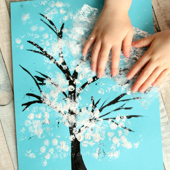 snowflake art for toddlers
