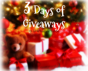 3 Days of Giveaways Next Week!