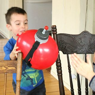 This is such a fun family game! The timer squishes the balloon, and you have to complete your task before the balloon pops! Love it for family game night. #sponsored #winningfingers #games