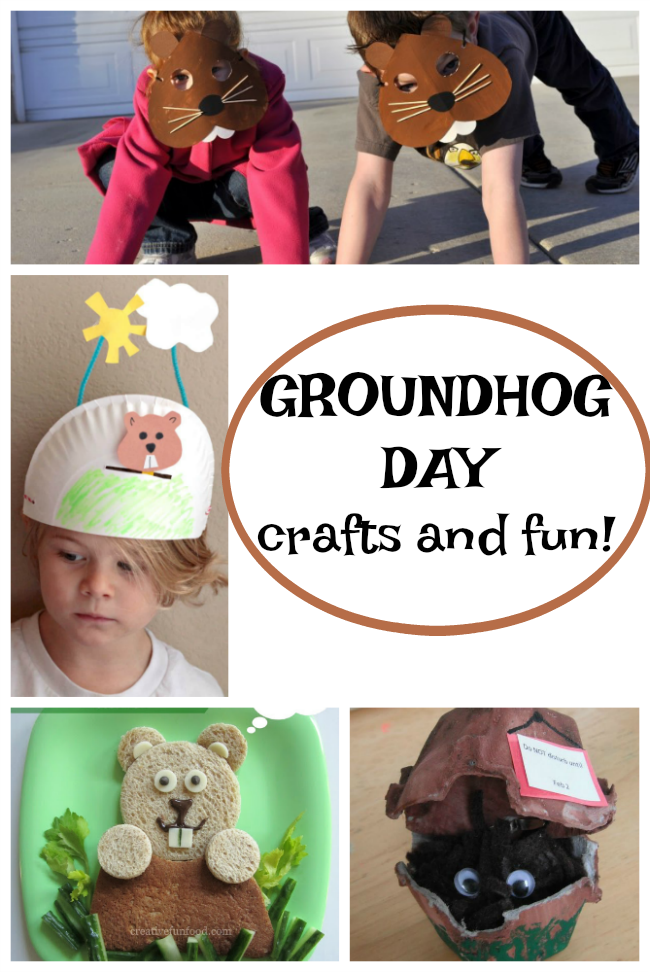 These groundhog day crafts for preschoolers are so easy and fun! #groundhogday #preschooler #easy #crafts #February #fun