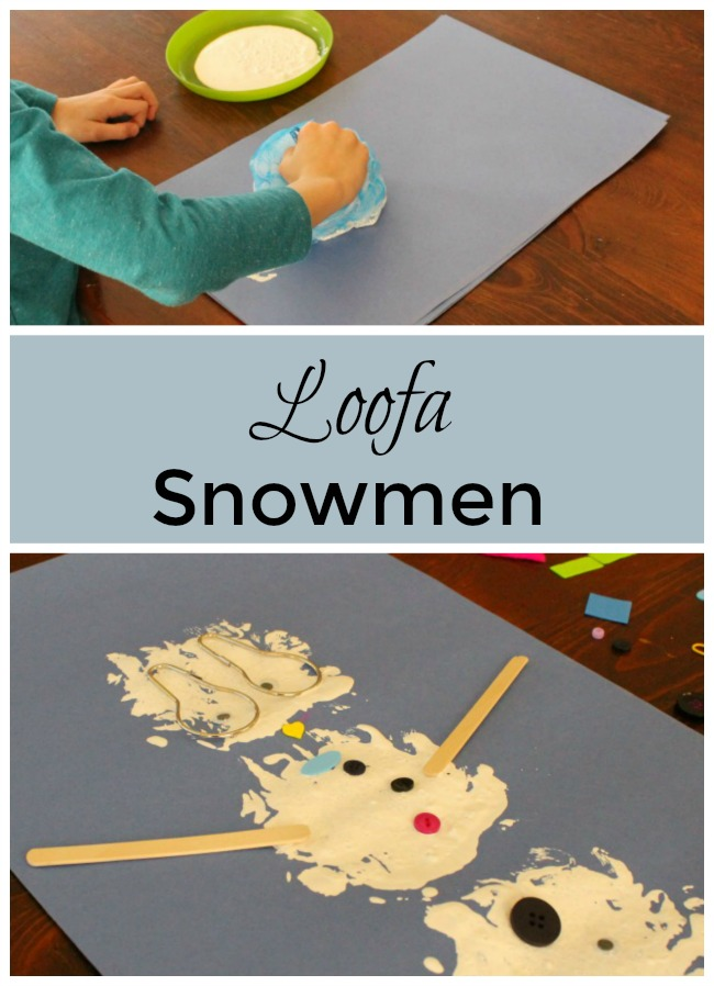 This snowman craft is perfect for preschoolers! Great process art and for loose part play too. So FUN! #wintercraft #preschool #crafts #toddlercrafts #kindergarten #winterart #preschoolactivity