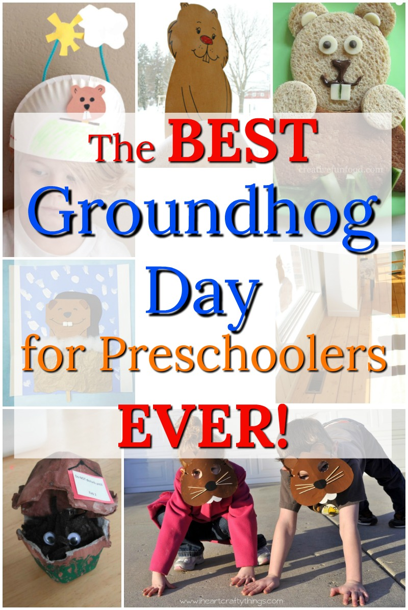 Awesome groundhog day crafts, activities, and art for preschoolers! These make for the perfect groundhog day for kids! #groundhogday #groundhogdaycrafts #groundhogcraft #preschoolactivities #preschoolcrafts #preschool