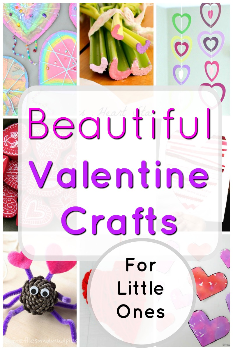 Beautiful Valentine's Day and Heart Crafts for preschoolers and toddlers to make #craftsforkidstomake #valentinesdaycraft #easycrafts #heartcraft #preschoolcrafts #toddlercrafts #preschoolartprojects