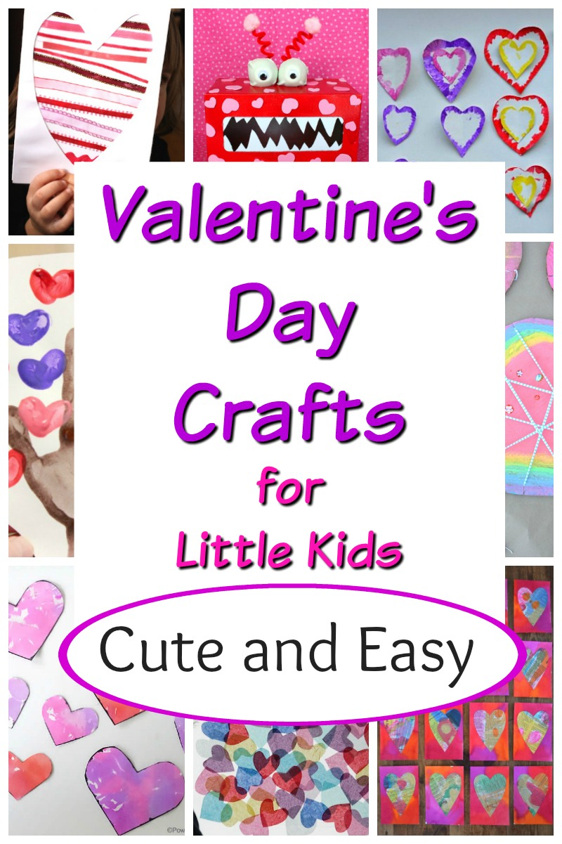 Cute and simple Valentine's Day crafts for preschoolers. #valentinesdaycrafts #preschoolcrafts #preschoolart #preschoolartprojects #craftsforkids #funforkids #kidsart