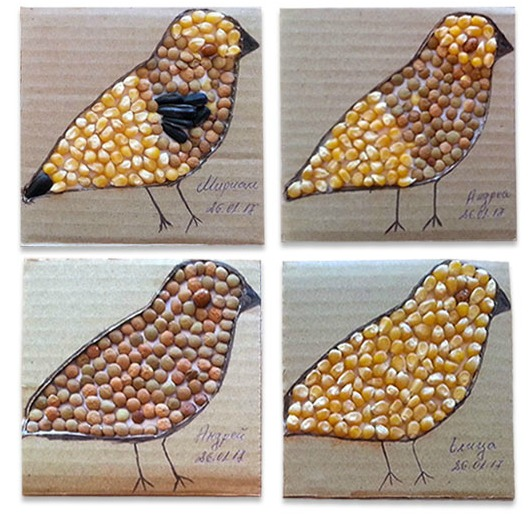 Crafts for kids that use seeds! Great spring art for kids.