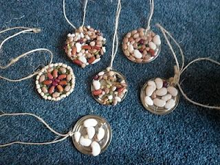 Beautiful seed art pendants for kids