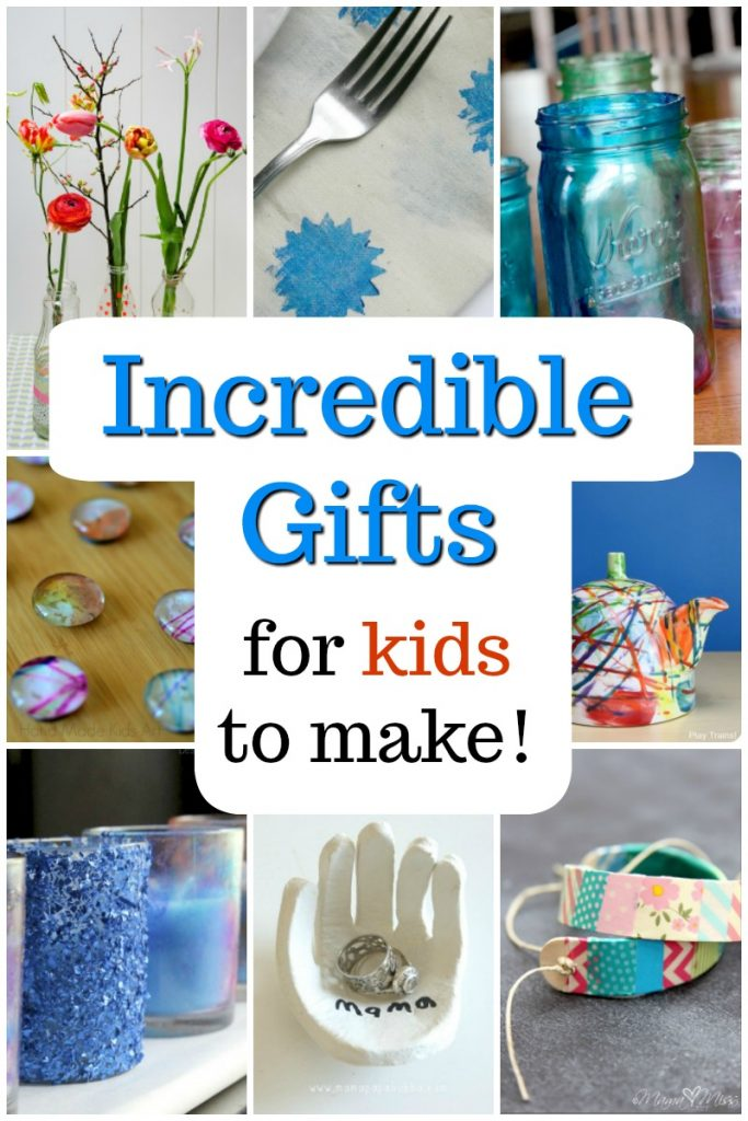 Awesome homemade gift ideas for kids to make! Great presents for Mom, Dad, and holidays! #homemade #gifts #christmas #craftsforkids #kidscrafts #christmascrafts #DIY