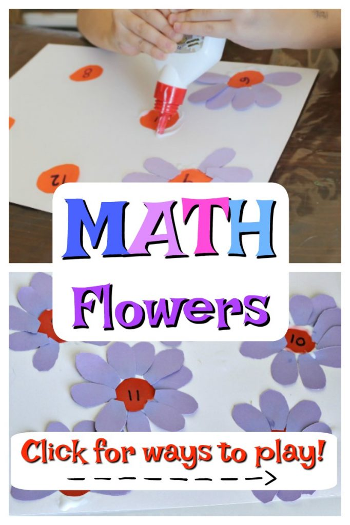 Kids add the correct number of petals that match the number at the center of a flower.