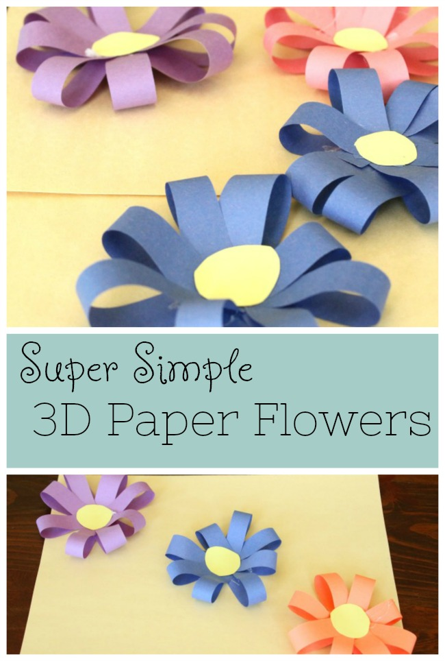 Simple 3d Paper Flowers How Wee Learn