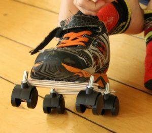 Kid-made Rollerskates!