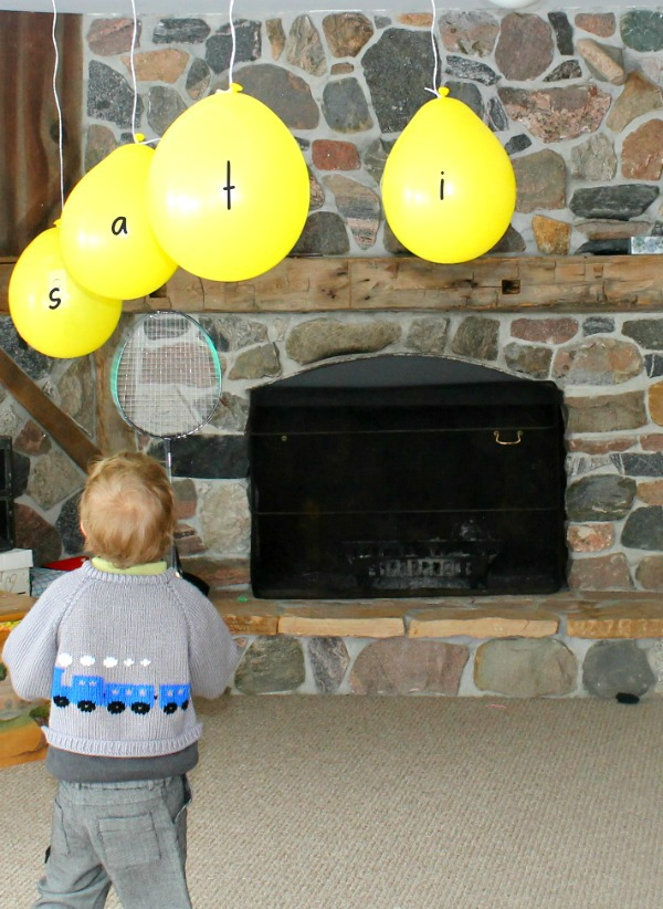 Awesome alphabet recognition game for preschoolers! Great way to practice letters and sounds in hands-on ways! #alphabet #preschool #grossmotor