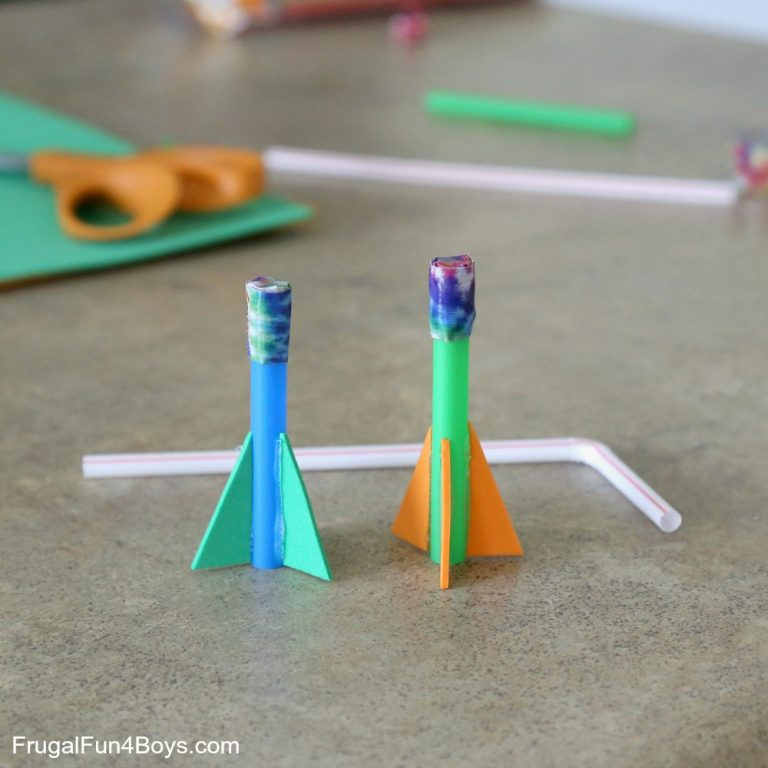 Now these straw rockets are a really fun craft