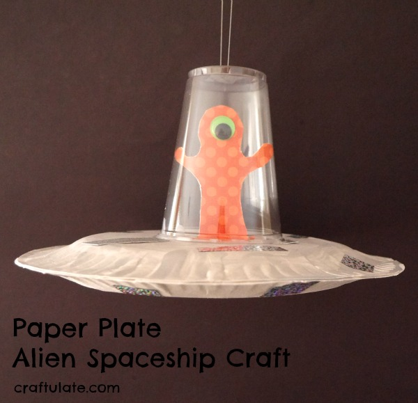 paper plate craft idea -an alien spaceship