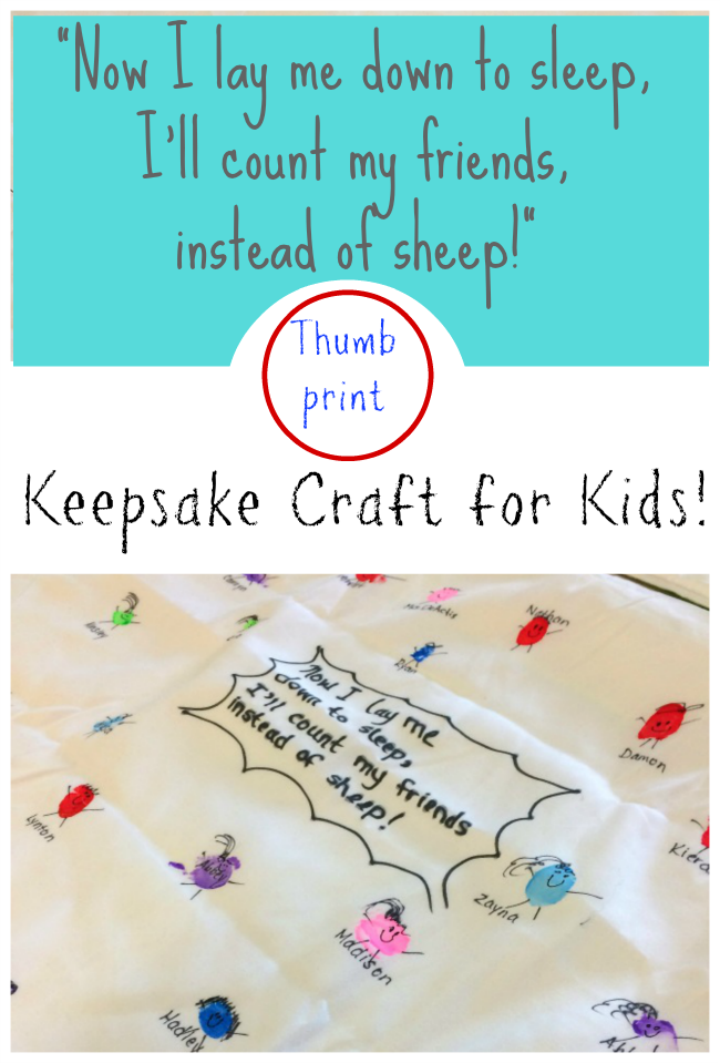 Such a sweet keepsake craft for kids! Perfect as a end of the year gift or for a camp craft! #DIY #Keepsake #craft #fingerprintart