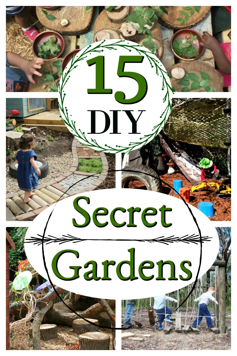 These are magical DIY outdoor play spaces for kids. An easy way to transform a backyard into a secret garden! #howweelearn #outdoorplay #diy #tutorial #backyardideas #kidsactivities #playspaces #outdoorplayhouse #forestschool