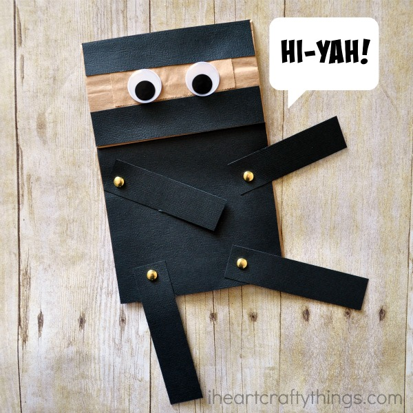 Paper bag crafts - make a Ninja!