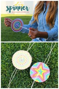 a fun paper craft for kids - paper spinners