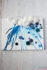 Rain cloud crafts for kids